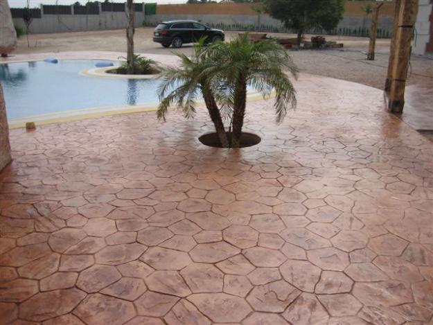 Hormigon impreso cieza cemento impreso hormigon for Terrasse en carreaux de ciment